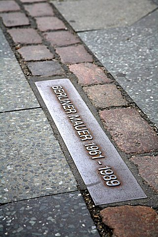 Site of Berlin Wall, Friedrichstrasse, Berlin, Germany, Europe