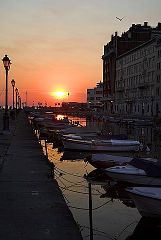 Canal Grande towards the Adriatic Sea, Trieste, Friuli Venezia Giulia, Italy, Europe