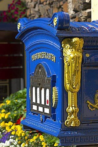 Mail box, Cochem, Moselle Region, Rhineland Palatinate, Germany, Europe