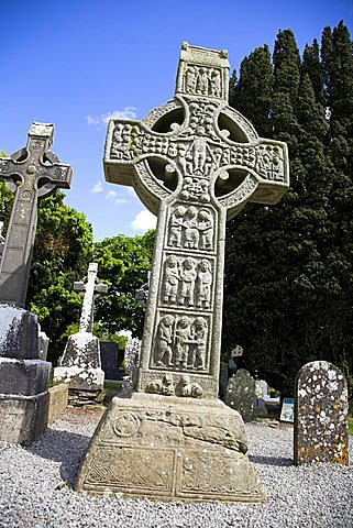 Detail, Celtic High Cross, Monasterboice, County Louth, Leinster, Eire (Republic of Ireland), Europe