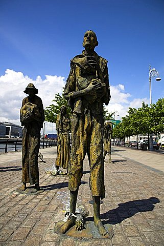 Famine memorial, Dublin, Republic of Ireland, Europe