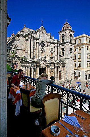 Balcony, El Patio restaurant, Havana, Cuba, West Indies, Central America
