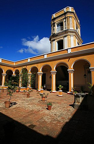 Courtyard, Palacio Cantero, Trinidad, UNESCO World Heritage Site, Cuba, West Indies, Central America