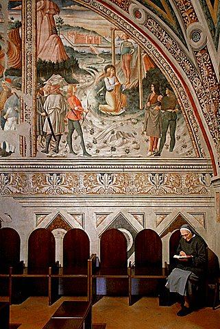 Andrea Aloisi fresco, Oratorio dei Pellegrini palace, Assisi, Umbria, Italy, Europe