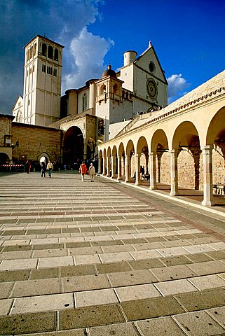 Basilica di San Francesco, UNESCO World Heritage Site, Assisi, Umbria, Italy, Europe