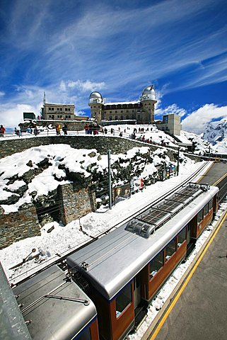 Gornergrat railway, Zermatt, Valais, Switzerland, Europe