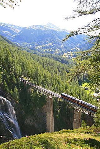 Railway, Zermatt, Valais, Switzerland, Europe