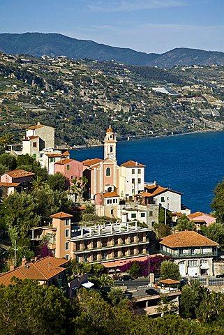 Village view, Mortola inferiore, Ventimiglia, Liguria, Italy