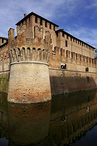 Rocca di San Vitale fortress, XV sec, Fontanellato, Parma, Emilia Romagna, Italy