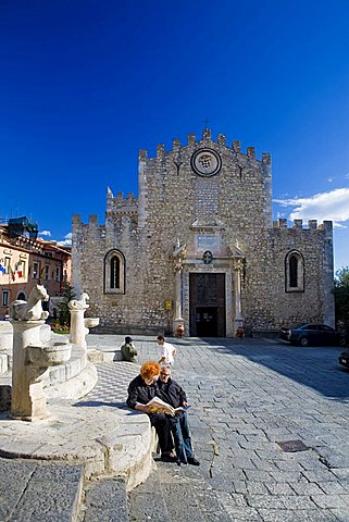 Cathedral of San Nicolò, Taormina, Sicily, Italy