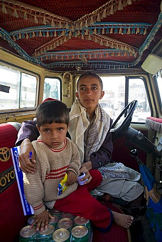 Yemenite children, Al Tawila, Yemen, Middle East