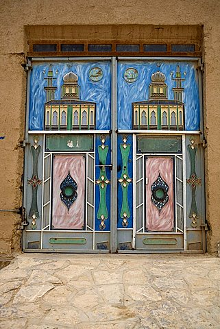 Main door, Tarim, Yemen, Middle East