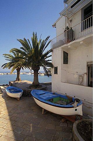 Casamicciola port in Lacco Ameno, Ischia, Campania, Italy.