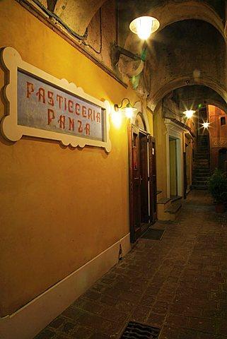 Alley of historical centre, Maratea, Basilicata, Italy