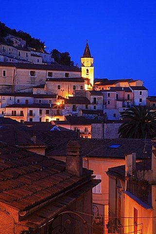 Night village view, Maratea, Basilicata, Italy