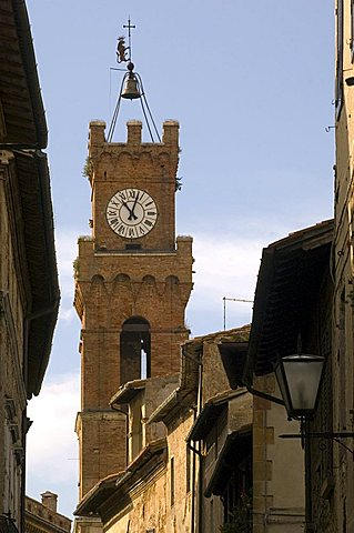 Clock tower, Pienza, Italy