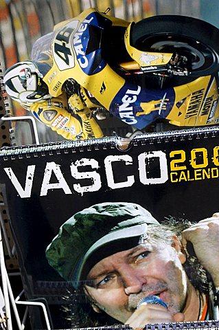 Valentino and Vasco Rossi poster, Urbino, Italy