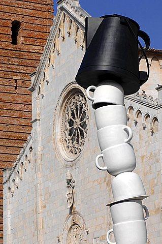 Sculpture, Piazza del Duomo, Pietrasanta, Tuscany, Italy