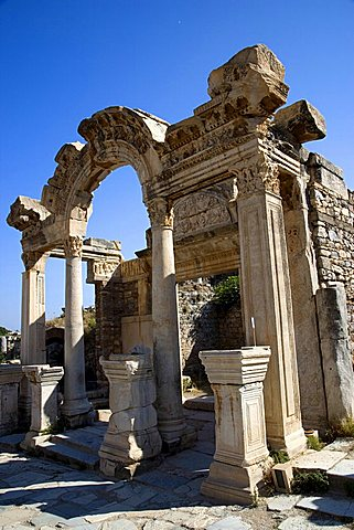 The temple of Hadrian, Ephesus, Kusadasi, Turkey, Europe