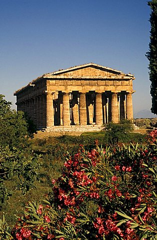 Temple dedicated to Neptune, Paestum, Campania, Italy