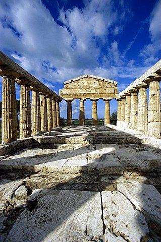 Temple, Paestum, Campania, Italy
