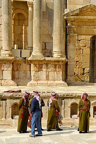 The Roman south theater, Jerash, Jordan, Middle East