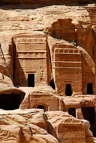 Nabatean tombs, archaeological site of Petra, Jordan, Middle East