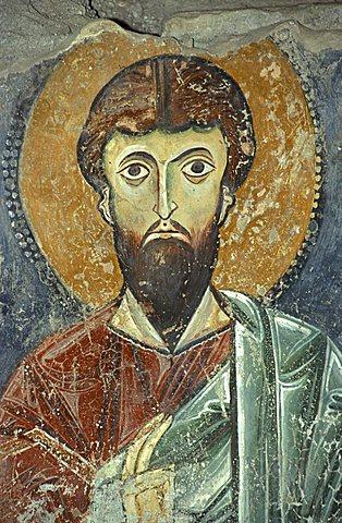 Jesus, mural, San Pietro a Corte church, Salerno, Campania, Italy
