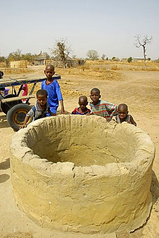 Well in a Peul village, Republic of Senegal, Africa