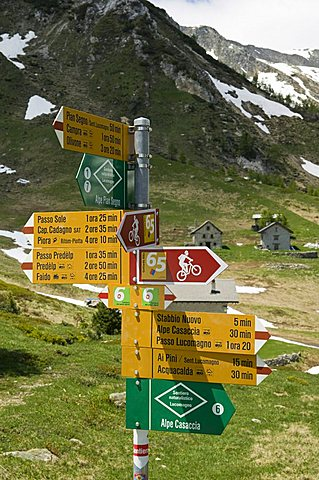 Signals, Lucomagno, Switzerland, Europe