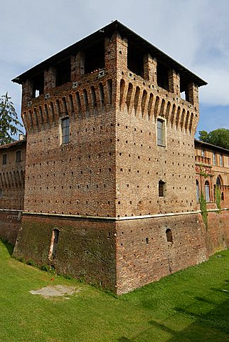Sforzesco Castle, Galliate, Novara province, Piedmont, Italy
