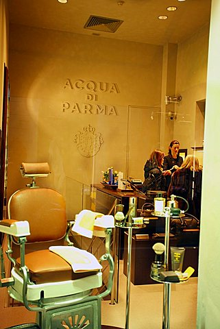 Acqua di Parma fashion shop, Via Gesù street, Milan, Lombardy, Italy, Europe