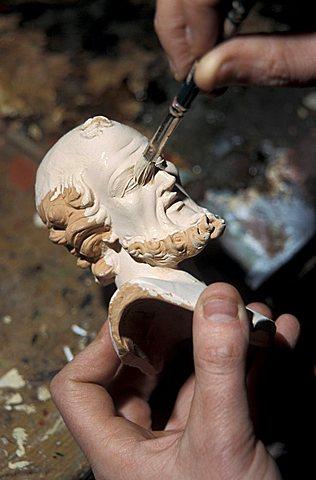 Crib's statuette maker, Naples, Campania, Italy