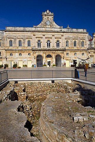 Town hall, Ostuni, Puglia, Italy