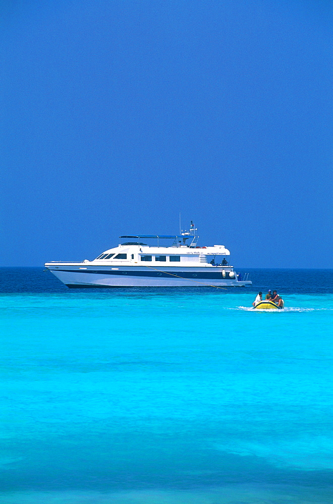 Yacht, Farasan Island, Red Sea, Saudi Arabia, Middle East