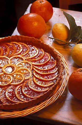 Orange pie, Marcucci winery, Pietrasanta, Tuscany, Italy