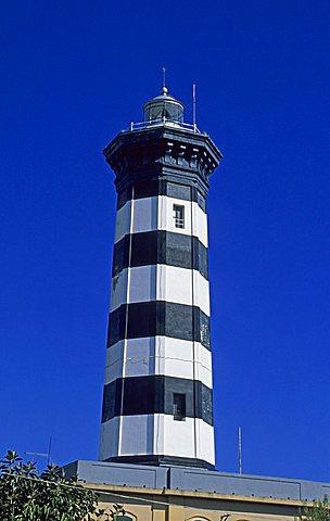 Lighthouse, Capo Peloro, Messina, Sicily, Italy