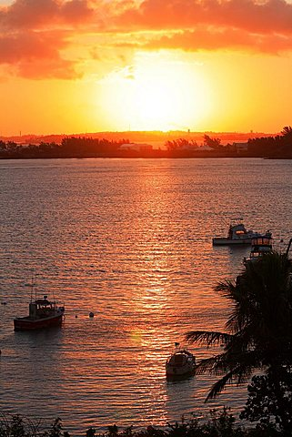 Sunset on Somerset Long Bay, Somerset Island, Bermuda, Atlantic Ocean, Central America