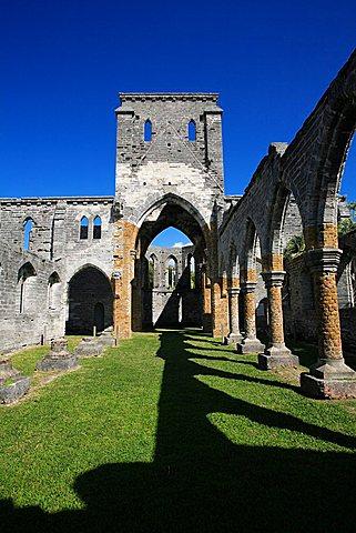 Unfinished gothic church, St. George's,  Bermuda, Atlantic Ocean, Central America