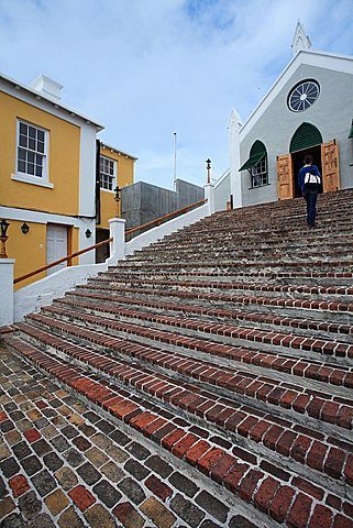 St. Peter church, St. George's,  Bermuda, Atlantic Ocean, Central America