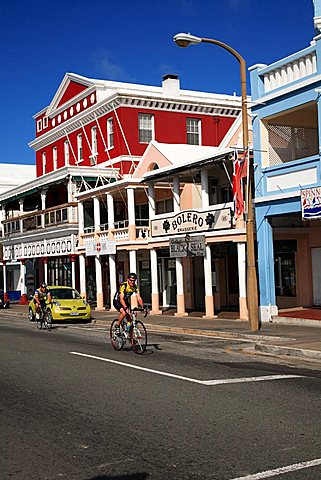 Typical architecture, Hamilton, Bermuda, Atlantic Ocean, Central America