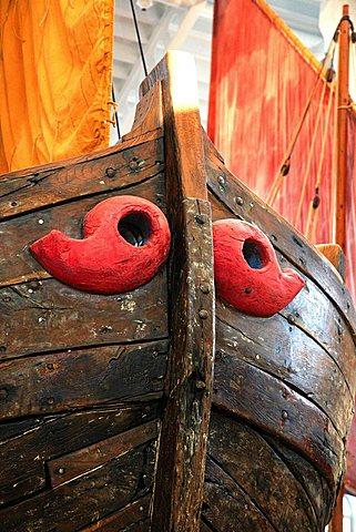 Magis symbols on a ship, Museo della Marineria, Cesenatico, Emilia Romagna, Italy