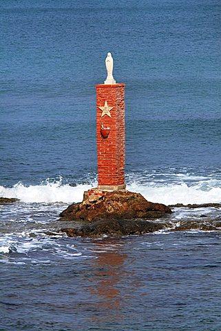 Virgin Mary statue, Porto Palo, Sicily, Italy