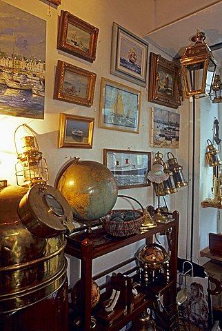 Nautical antique trade, Ars en Rè, Isle of Rhé, France, Europe