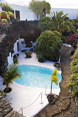 Cesar Manrique's former house, Taro de Tahiche, Lanzarote, Canary Islands, Spain
