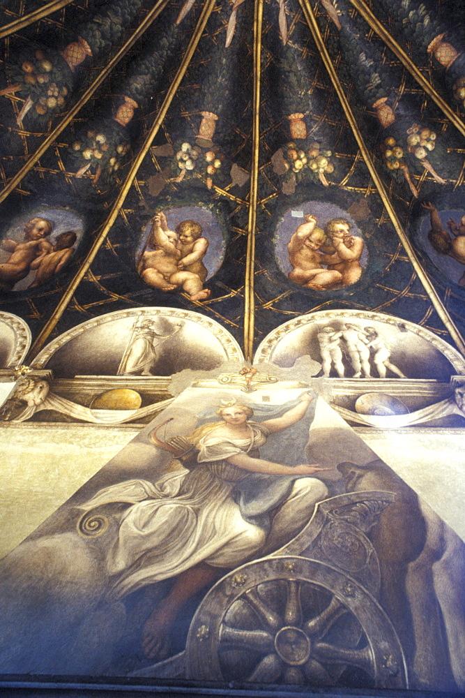 Correggio's fresco, San Paolo nunnery, Parma, Emilia Romagna, Italy