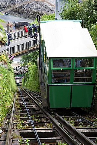 Cliff Railway, Lynton, North Devon, England, Great Britain