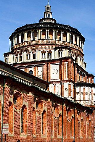 Bramante's apse, Santa Maria delle Grazie church, Milan, Lombardy, Italy