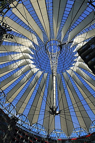 Roof of the Sony Center, Potsdam Square, Berlin, Germany, Europe - 746-71677