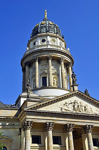 German Cathedral, Gendarmenmarkt square, Mitte district, Berlin, Germany, Europe